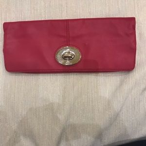 NWOT Coach Folding Leather Clutch in Pink